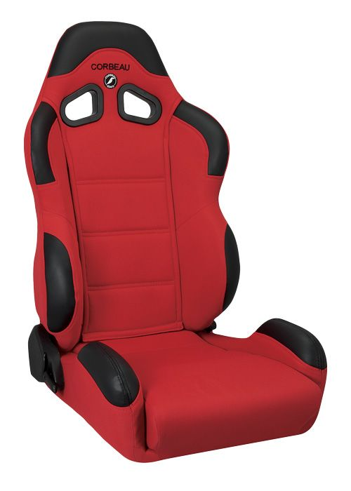 Corbeau CR1 Red Cloth Racing Seat