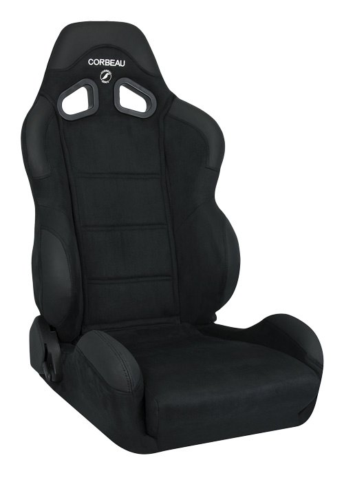Corbeau CR1 Black Microsuede Racing Seat - Wide Version