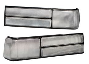 83-93 Mustang Taillights OEM - CLEAR Lens Kit (Pair)