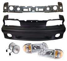 87-93 Mustang COMPLETE GT OEM - Front Bumper with Fog Lights + Headlights + Header Panel - (Urethane)