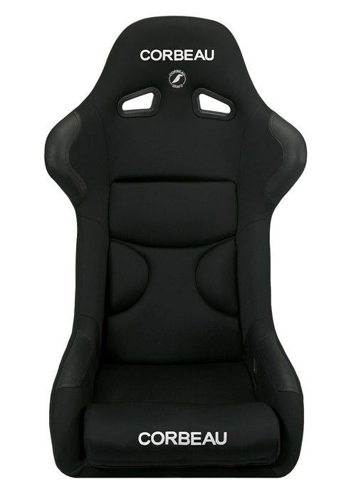 Corbeau FX1 Pro Black Cloth/ Black Inserts Racing Seat