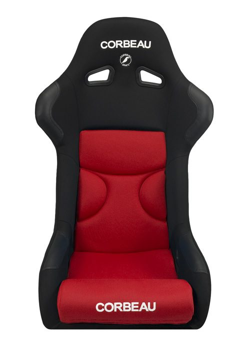 Corbeau FX1 Pro Black Cloth/ Red Inserts Racing Seat