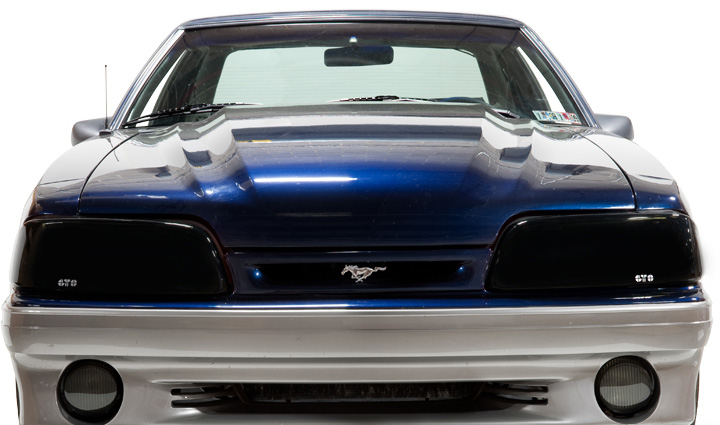 87-93 Mustang Headlights - GTS Smoked Covers (Pair)