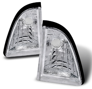 87-93 Mustang Inner Bumper Lights - Chrome (Pair)