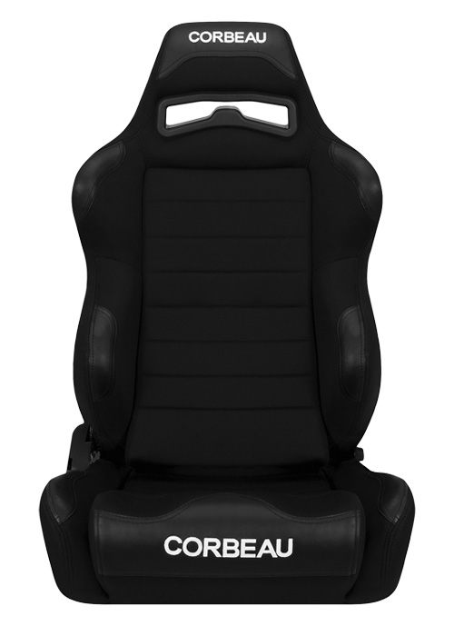 Corbeau LG1 Black Cloth Racing Seat