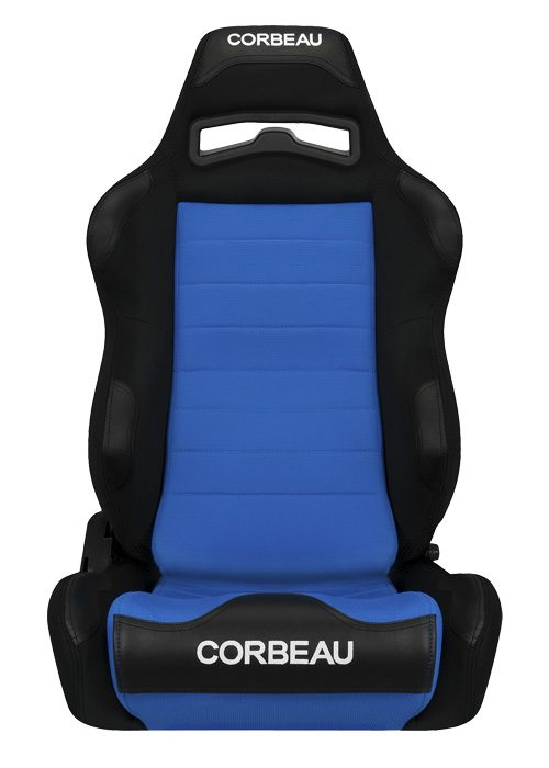 Corbeau LG1 Black/Blue Cloth Racing Seat