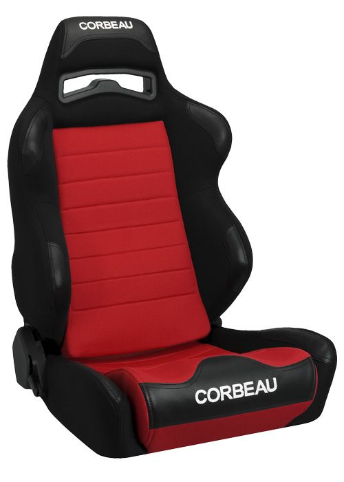 Corbeau LG1 Black/Red Cloth Racing Seat