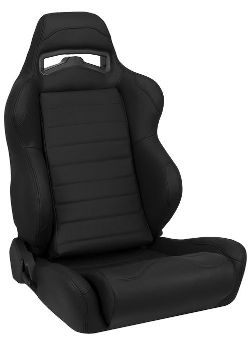 Corbeau LG1 Black Leather Racing Seat