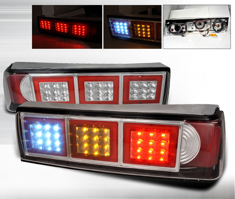 87-93 Mustang Taillights LED Gen 2 - Chrome (Pair)