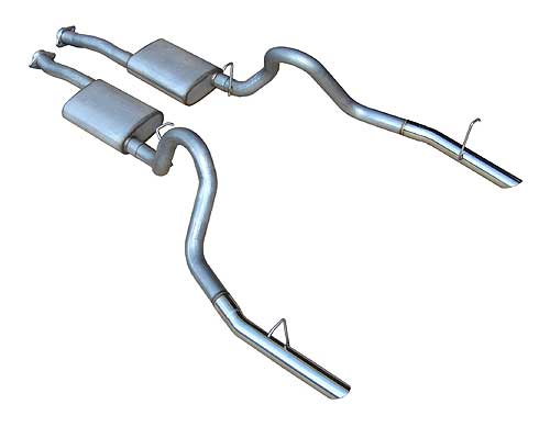 1986-1997 Mustang GT 4.6L/5.0L Violator Cat-Back System - PYPES