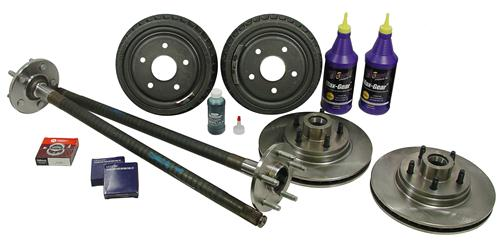 1987-1993 Mustang Complete 5-Lug Conversion Kit with 28 Spline Rear Axles - MAKE ALL 94-04 WHEELS FIT ON 87-93