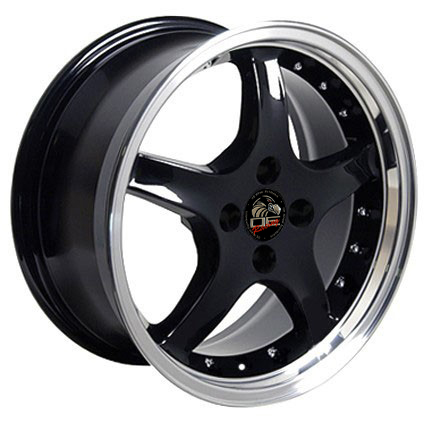 "COBRA R Motorsports - BLACK - 4 Lug 79-93 (sizes available 17x8 & 17x9"")"