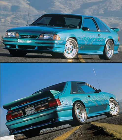 87-93 Mustang XENON - Side Skirts - Passenger / Driver Side - Fits GT / LX (Urethane)
