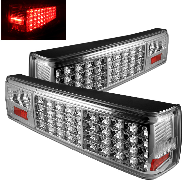 87-93 Mustang Taillights LED Gen 1 - Chrome (Pair)