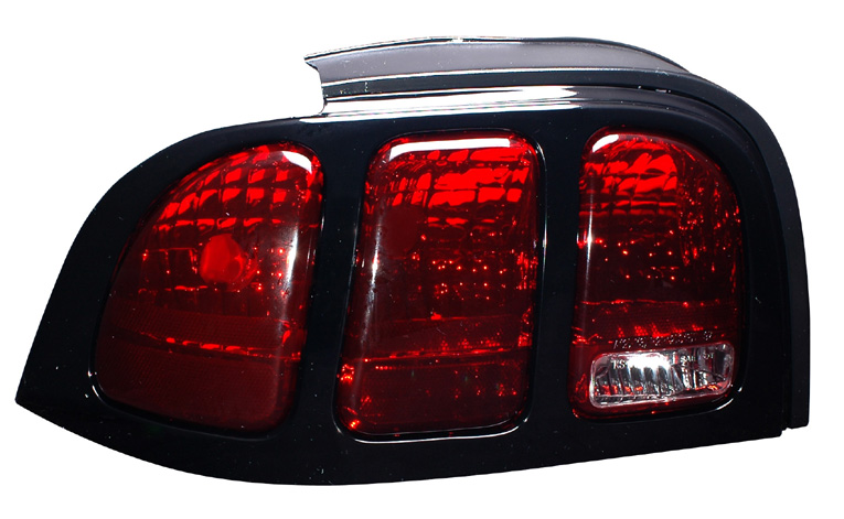 94-98 Mustang Taillights OEM Style - Dark Red w/Clear (Pair)