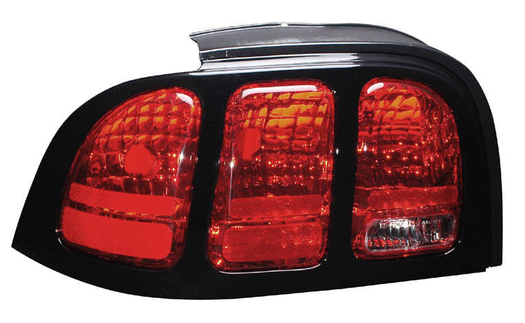94-98 Mustang Taillights OEM Style - Red w/Clear (Pair)