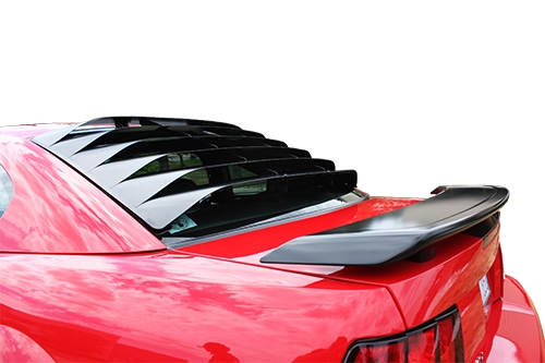 1994-2004 Mustang MRT Rear Window Louver Kit - Aluminum BLACK FINISH