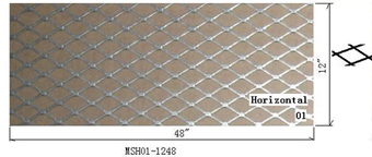 "Universal MESH Grille Sheet 12"" x 48"" (Large Diamond Cut)"