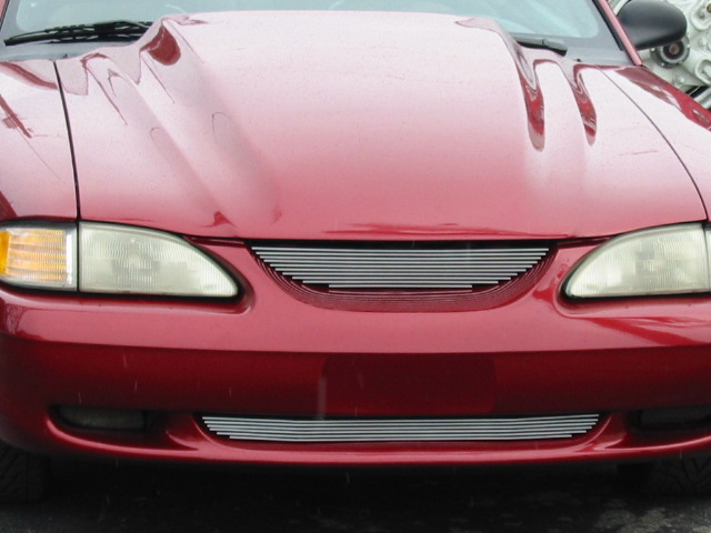 1994-98 COMBO Mustang Upper & Lower Billet Grille & L.E.D. Signal Mirrors Black