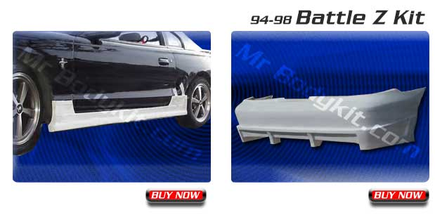 94-98 Mustang BATTLE BLITZ - 4PC - Body kit (Front + Rear + Sides) - Fiberglass