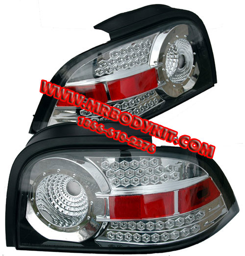 94-98 Mustang Taillights Gen 4 Style - LED Chrome (Pair)