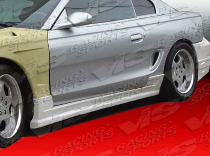 94-98 Mustang BATTLE BLITZ - Side Skirts - Passenger / Driver Side - (Fiberglass)
