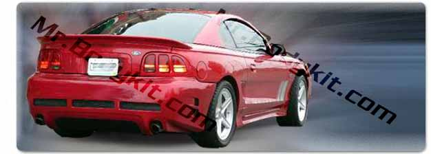 1994-98 COMBO Mustang STALKER 2000 (S2K) - 4PC - Body kit (Front + Rear + Sides) - Urethane & MB Round Side Scoops