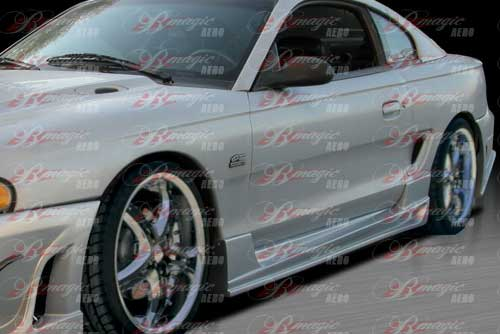 94-98 Mustang B MAGIC - Side Skirts - Passenger / Driver Side - (Fiberglass)