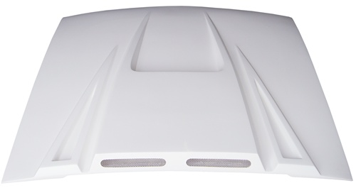 94-98 Mustang SPIDER X9 (Black Spider) Hood (Fiberglass) A14 By Trufiber (3 INCH RISE)
