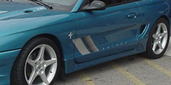 "94-98 Mustang STALKER STYLE ""S"" BULLET - Side Skirts (PAIR) - (Urethane) - FREE SHIPPING"