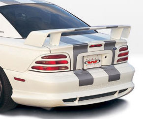 "94-98 Mustang STYLE ""W"" - Rear Bumper Add-on Lip - (Urethane)"