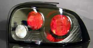 94-98 Mustang Taillights Gen 1 Style - BLACK (Pair)
