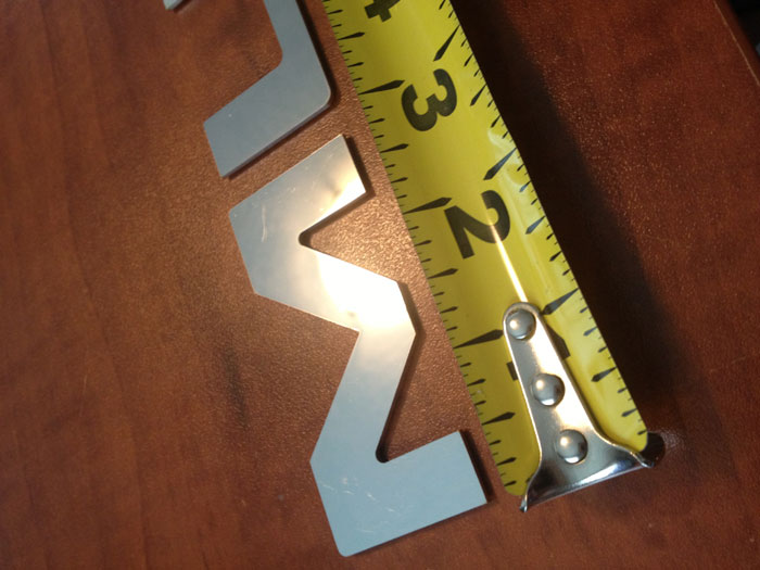 94-98 Rear bumper MUSTANG GT Chrome Stainless Steel CNC Letter Kit (Also works for side panels any year mustang)