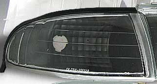 94-98 Mustang Outside Corner Light - NO AMBER - BLACK (Pair)