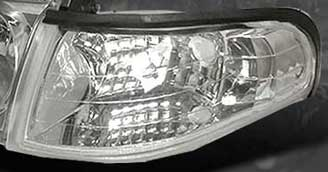 94-98 Mustang Outside Corner Light - NO AMBER - CHROME (Pair)