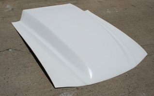 94-98 Mustang 6 INCH COWL Pin on Lift off Racing Hood (Fiberglass)