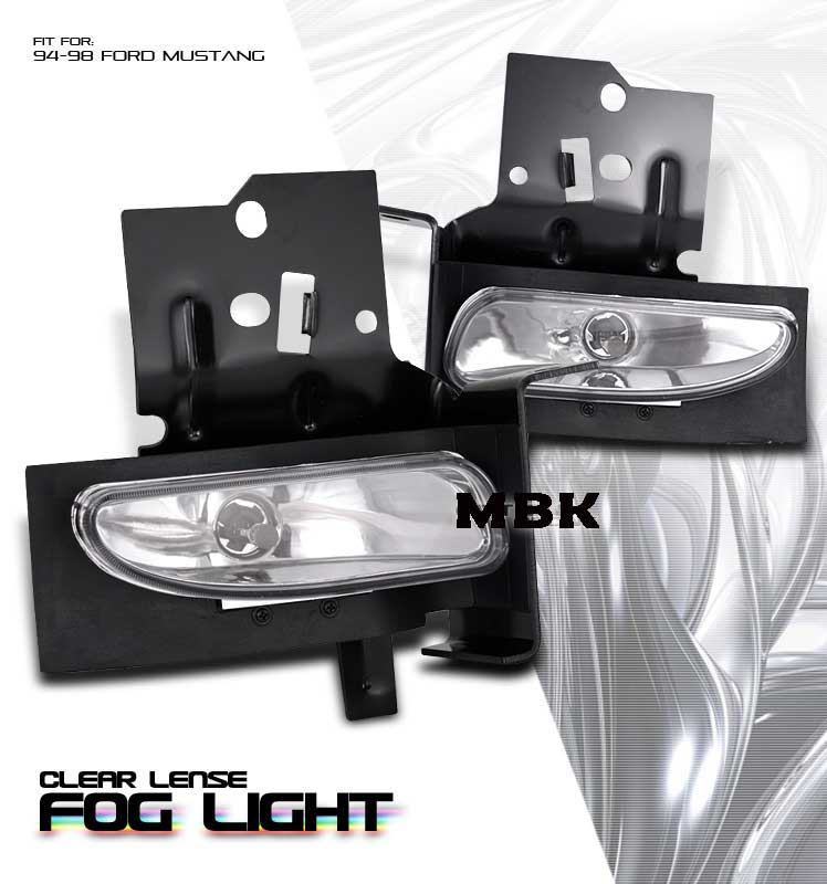 94-98 Mustang GT/V6 Ultra Fog Lights - Chrome Clear (Pair)
