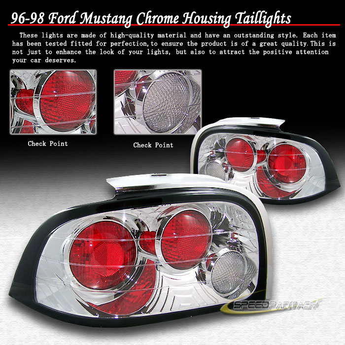 94-98 Mustang Taillights Gen 1 Style - CHROME (Pair)