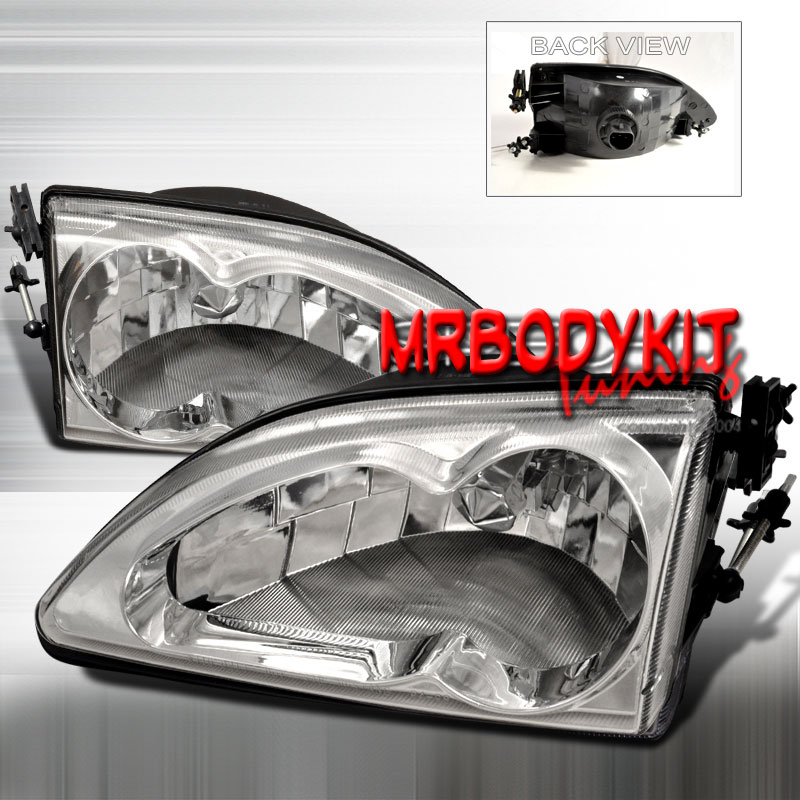 94-98 Mustang Headlights 2 PC - Gen 2 Style - CHROME (Pair)