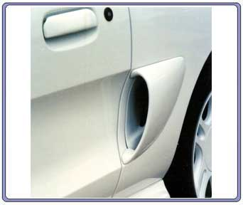 94-98 Mustang MB Round Side Scoops (2 pc)
