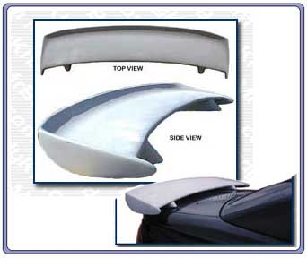 1994-1998 Mustang S Style Single Deck Stalker Wing