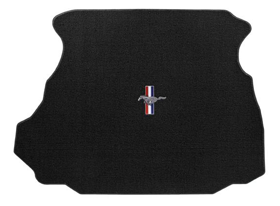 1994-1998 Mustang Coupe TRUNK Mats - Black (3 Emblem Options)