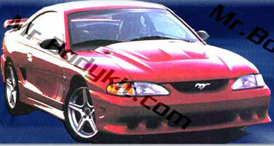 "94-98 Mustang STALKER STYLE ""S"" BULLET- 4PC - Body kit (Front + Rear + Sides) - Urethane FREE SHIPPING"