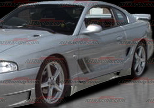 94-98 Mustang STALLION - Side Skirts - Passenger / Driver Side - (Fiberglass)