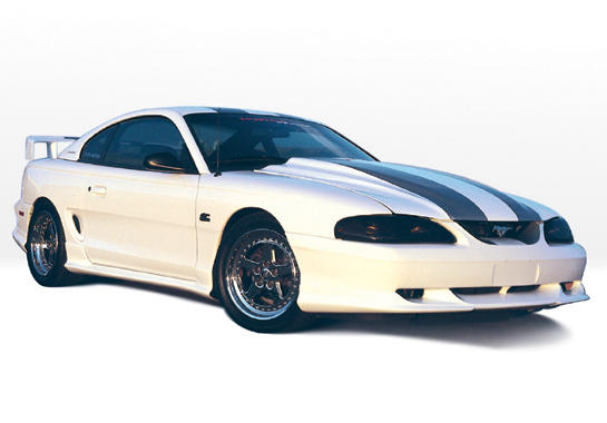 "94-98 Mustang STYLE ""W"" - 4PC - Body kit Lip front and Rear (Front + Rear + Sides) - Urethane"