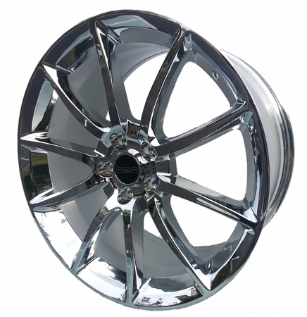 "Staggered 20"" Black Mamba Mustang Wheels 2005-2017 GT/V6/GT500 Big Brake, Set of 4 PACKAGE - CHROME"