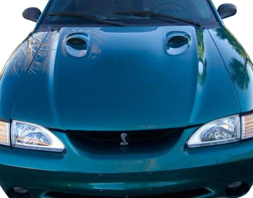 94-98 Mustang OEM Style COBRA Hood (DOES NOT INCLUDE SCREENS OR BEZELS)