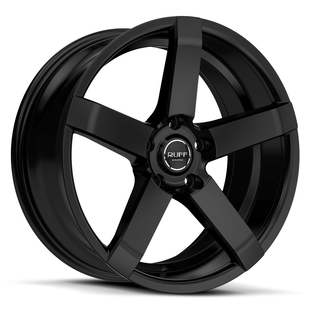 20 INCH Ruff Racing R956 GLOSS BLACK - 5 Lug 05-17 (sizes available 20x8.5) - Package for (4)