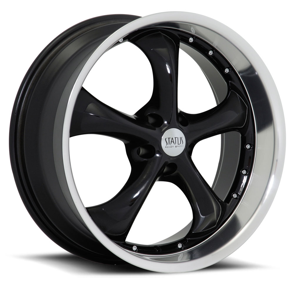 20 INCH Status Retro BLACK Rims S818 - 5 Lug 94-04 (sizes available 20x8.5, 20x10 & Staggered) - Package for (4)