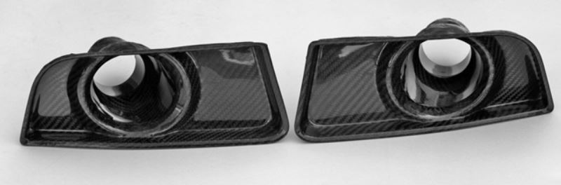2010-2012 Mustang Carbon Fiber LG78 Front Bumper Brake Ducts (Boss front fascia)